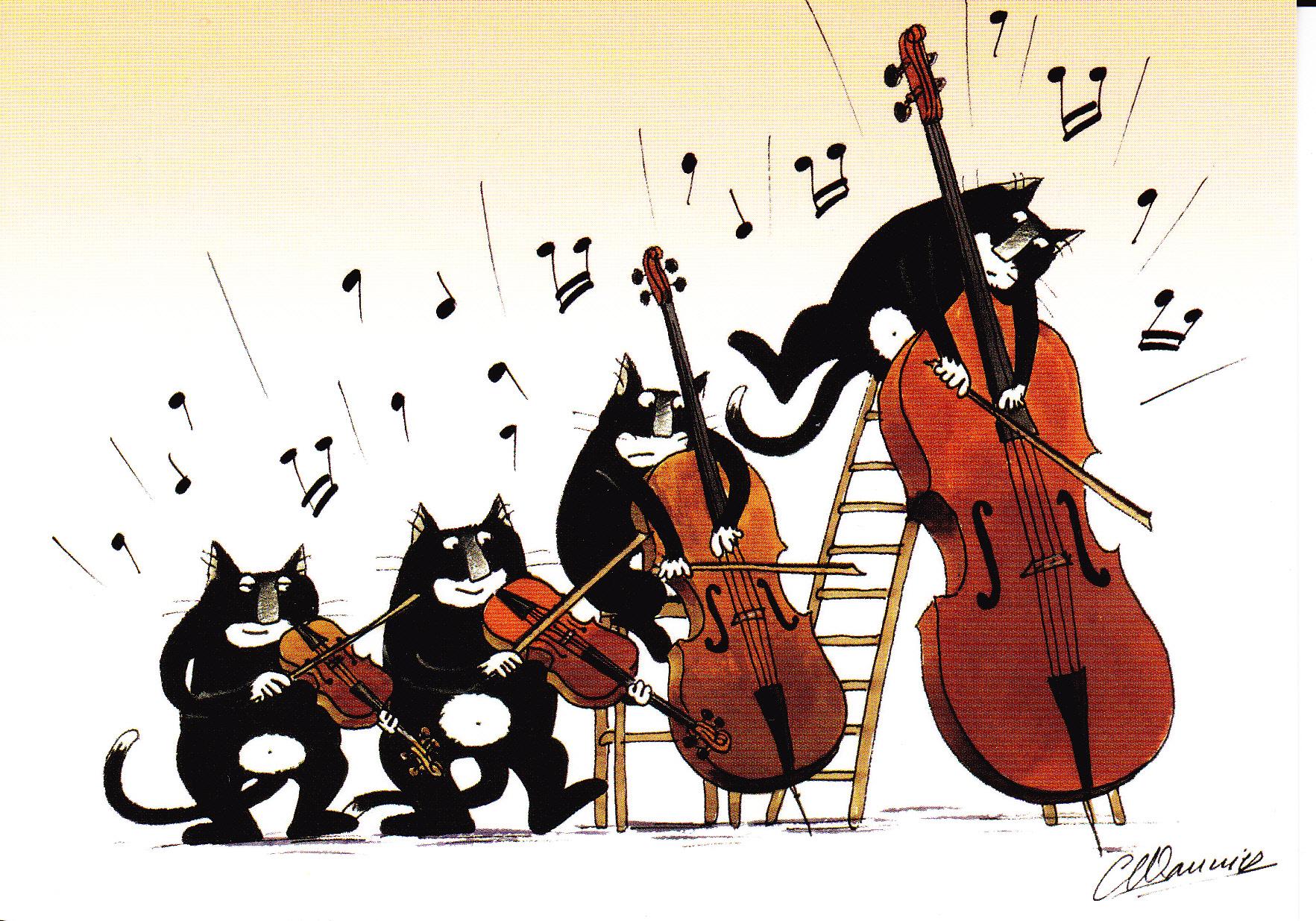 Les chats musiciens prince petit chat perdu - Dessin musicien ...