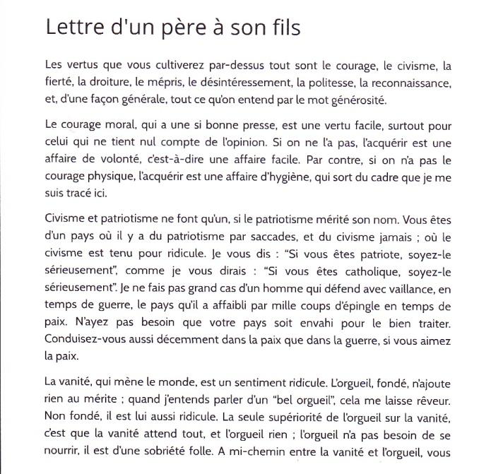 Lettre Dun Père à Son Fils Henry De Montherlant